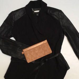 Gorgeous leather knit jacket, XS